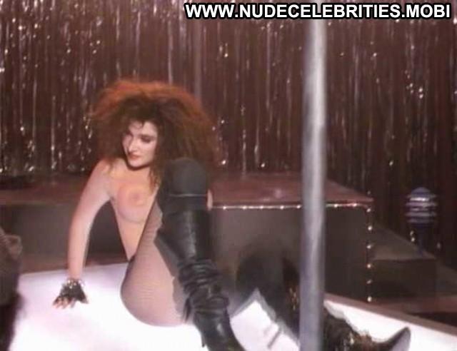 Catya Sassoon Dance With Death Breasts Big Tits Black Fishnet Jumping