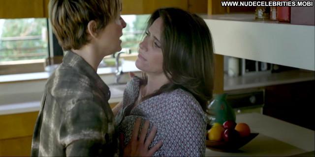 Amy Landecker Transparent Kissing Kitchen Shirt Lesbian Breasts