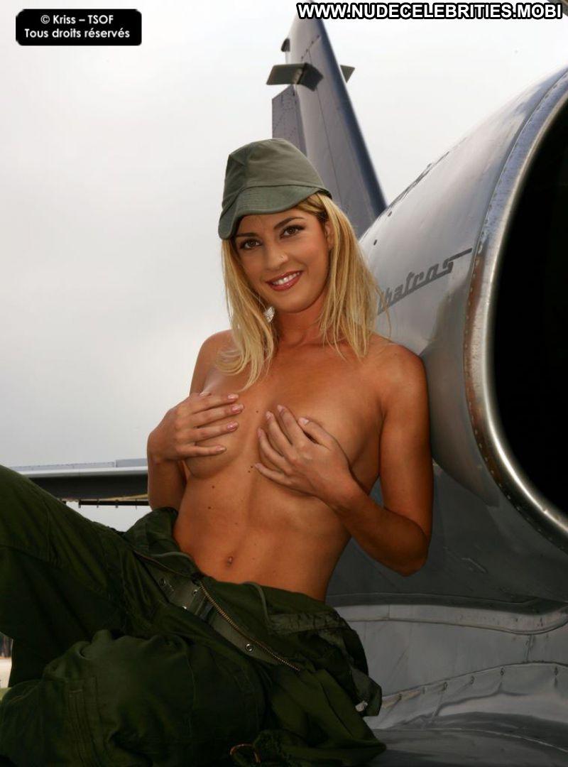 Military girl posing naked