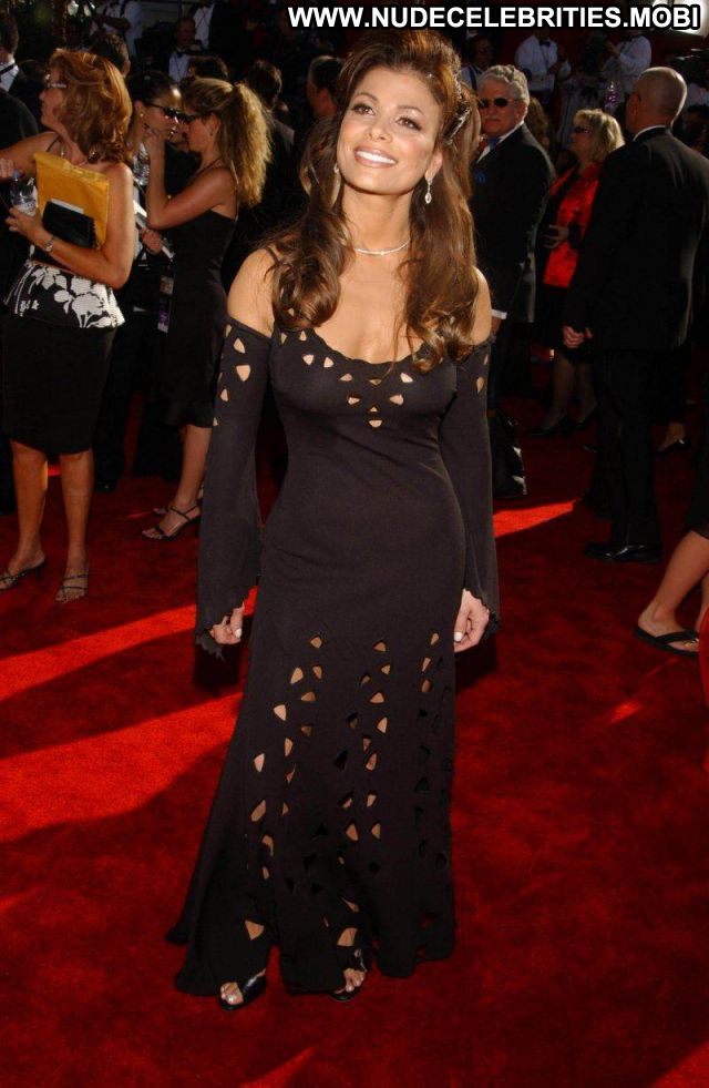 Paula Abdul Singer Brown Hair Sexy Dress Showing Tits Horny