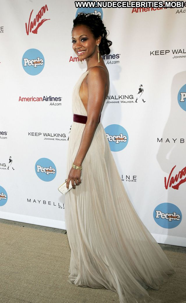 Zoe Saldana No Source Cute Sexy Dress Posing Hot Nude Celebrity