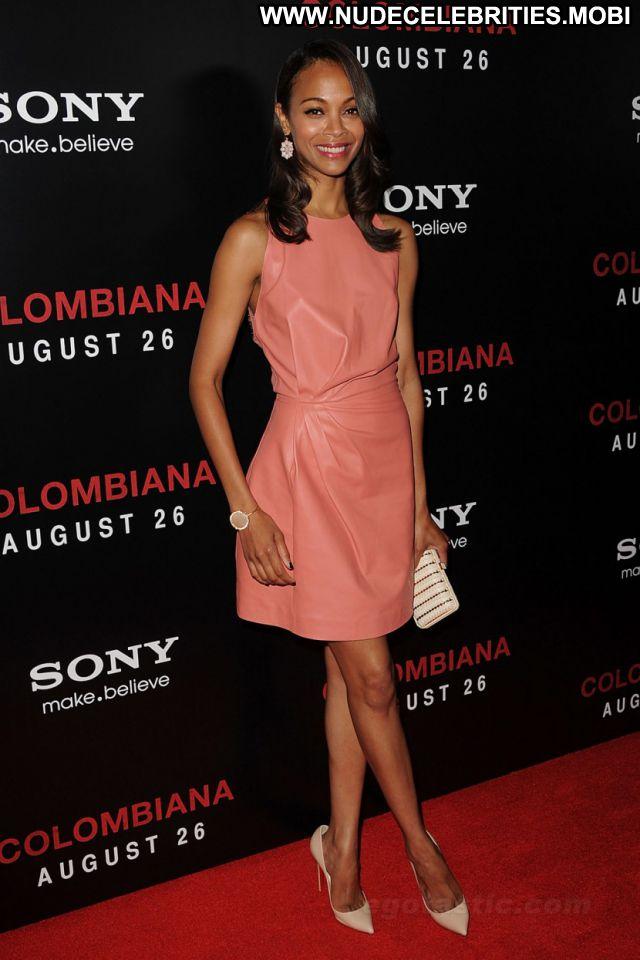 Zoe Saldana No Source Sexy Dress Ebony Posing Hot Posing Hot