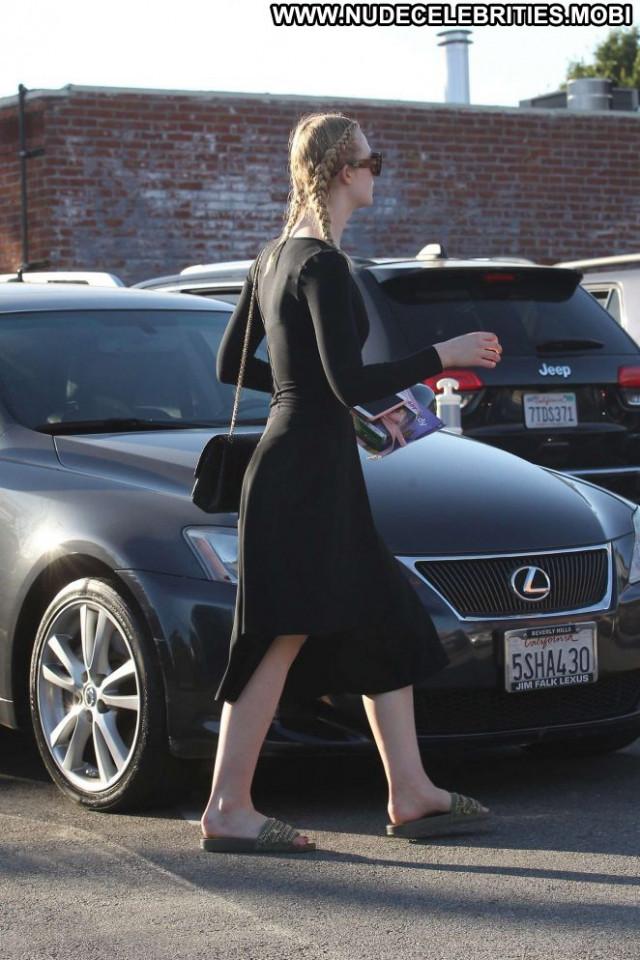 Elle Fanning Beverly Hills Posing Hot Celebrity Babe Paparazzi