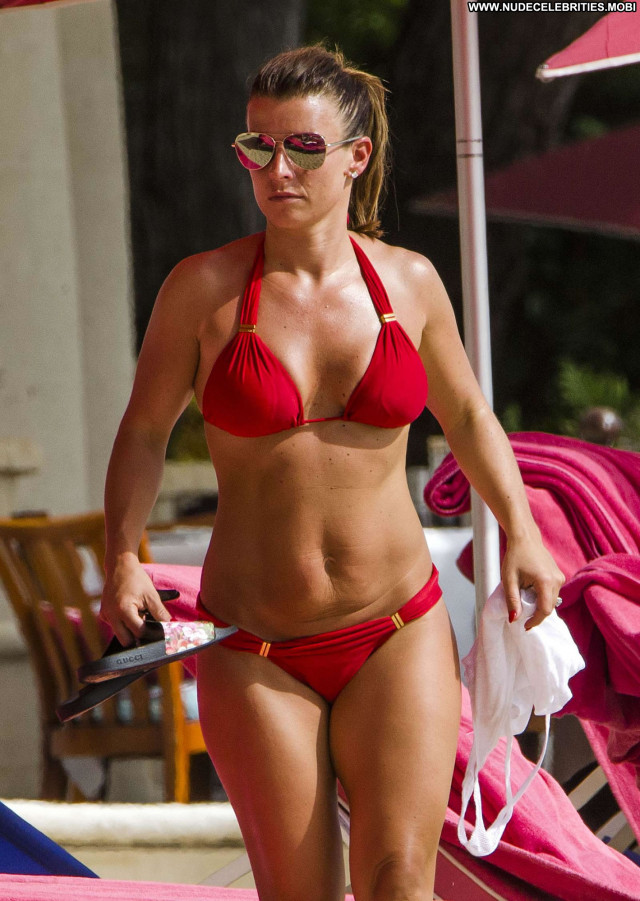 Coleen Rooney No Source Celebrity Beautiful Bus Bikini Babe Posing