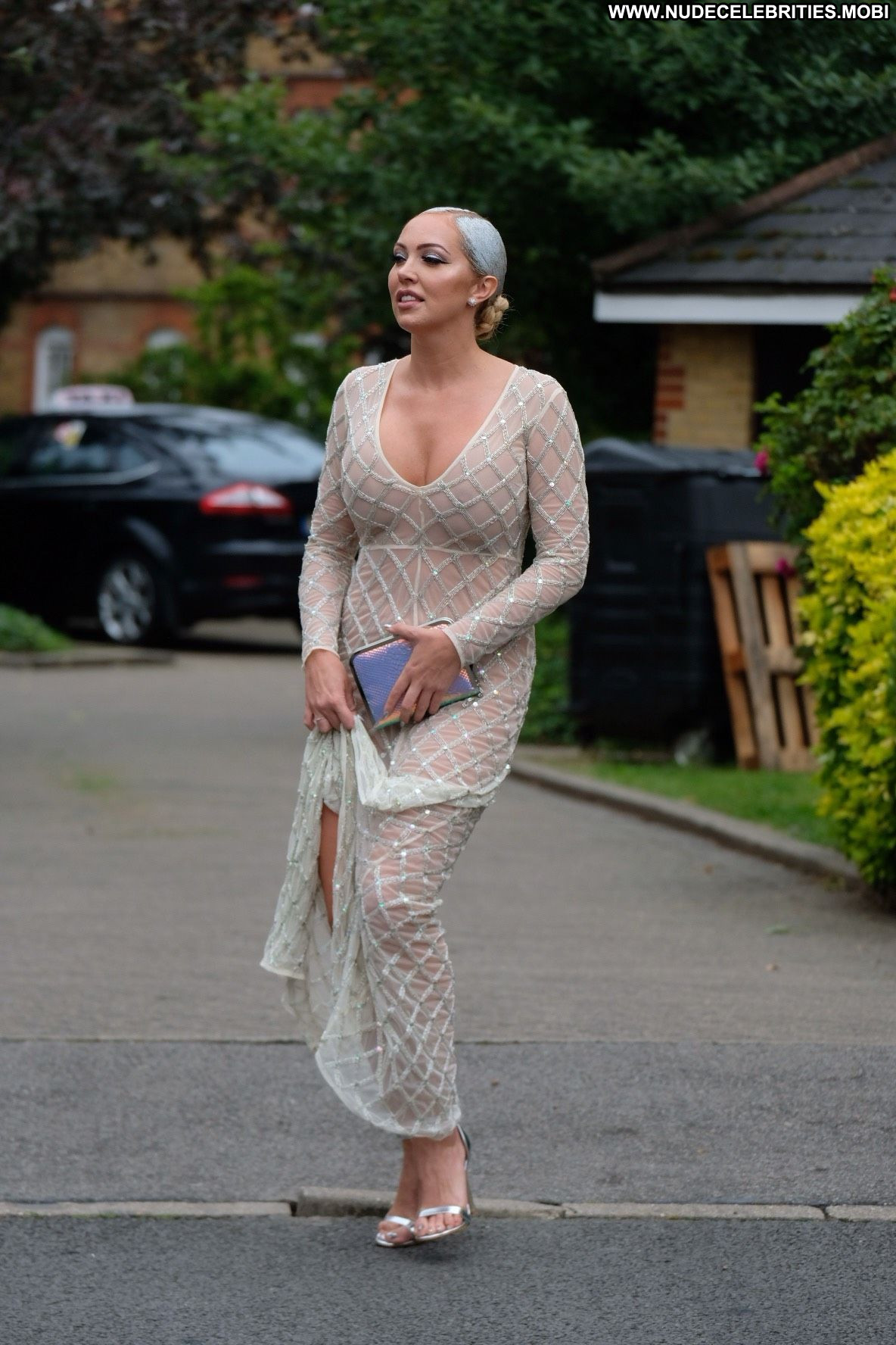 Aisleyne Horgan Wallace bares killer cleavage in