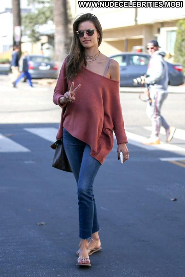 Alessandra Ambrosio No Source Jeans Posing Hot Beautiful Babe