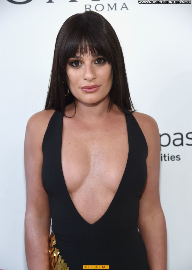 Lea Michele No Source Party Babe Nipple Slip Beautiful Posing Hot