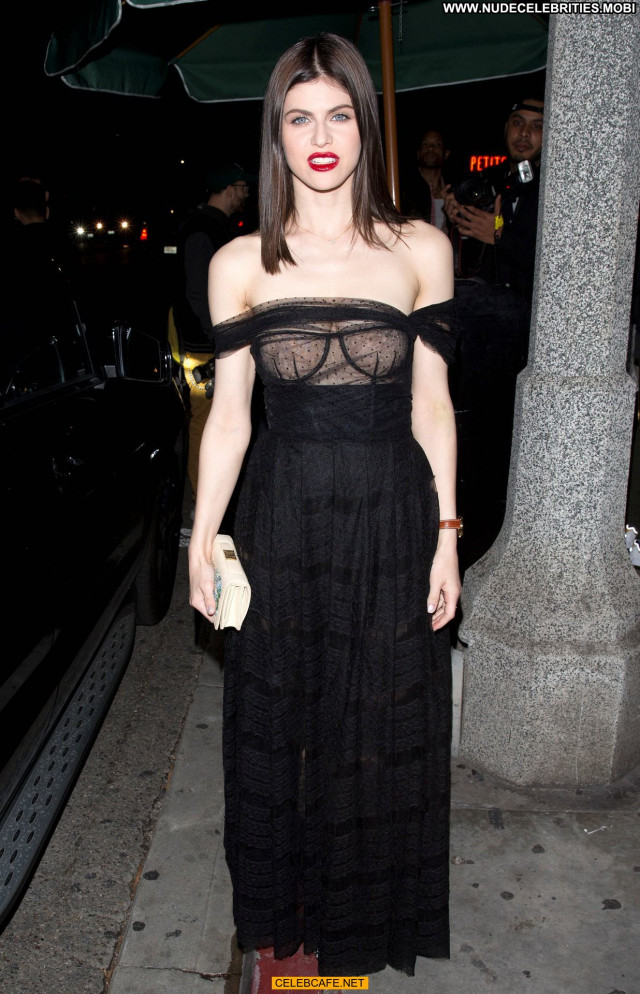 Alexandra Daddario No Source Posing Hot See Through Party Beautiful