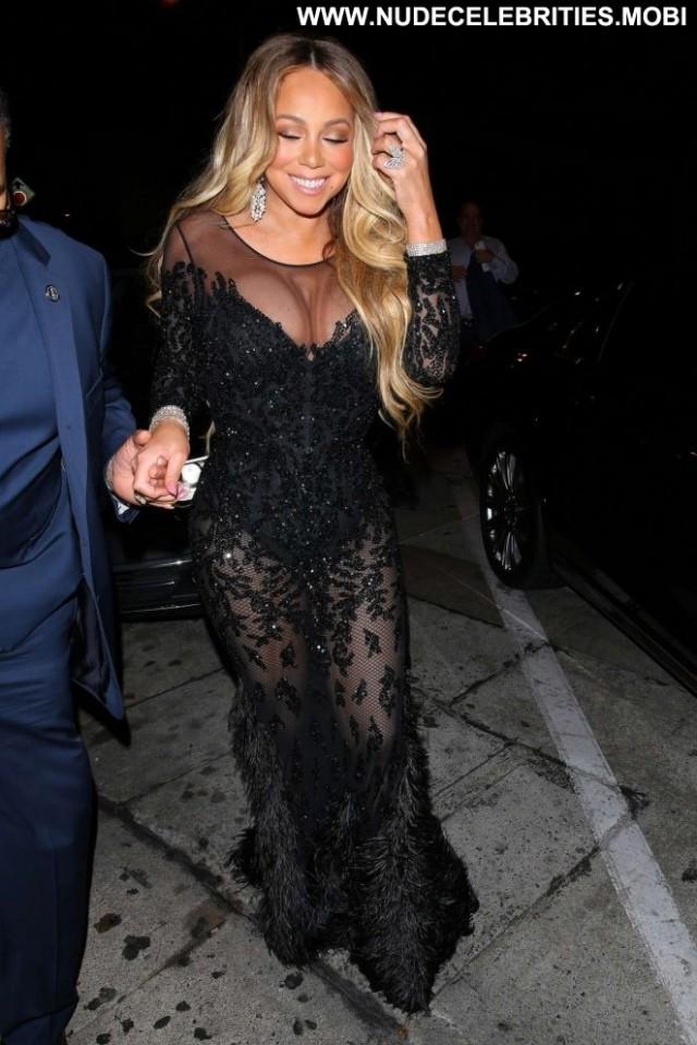 Mariah Carey West Hollywood Posing Hot Car Beautiful Paparazzi