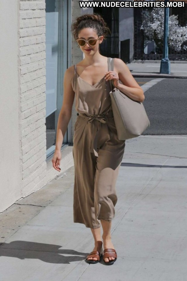 Emmy Rossum Beverly Hills  Posing Hot Babe Beautiful Celebrity