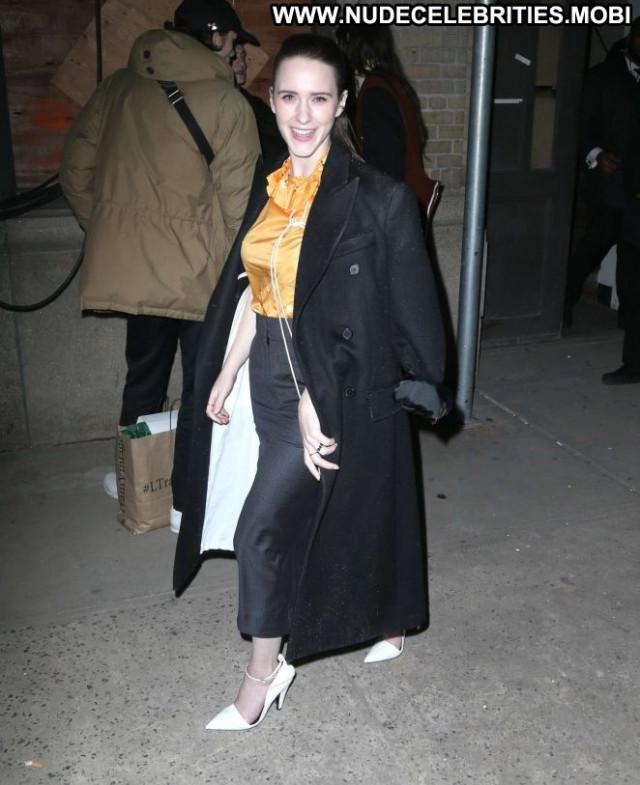 Rachel Brosnahan Fashion Show New York Posing Hot Paparazzi Babe