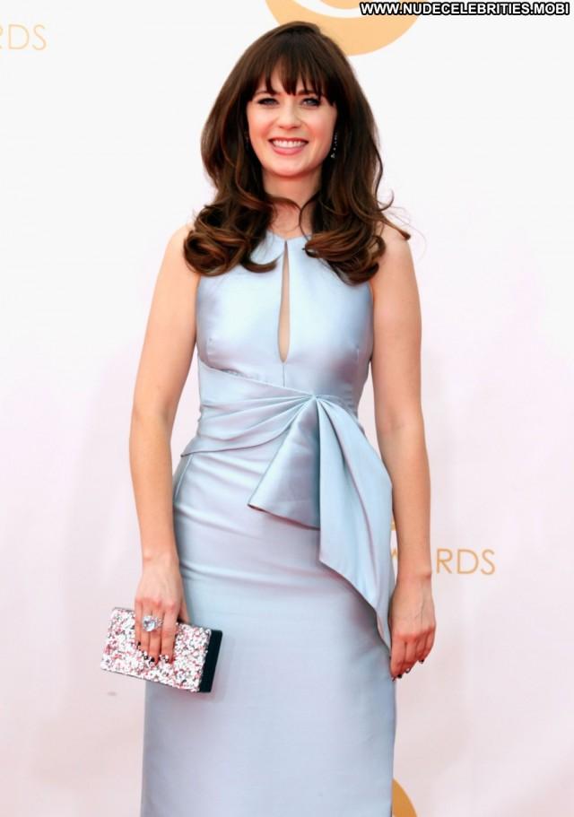 Zooey Deschanel Primetime Emmy Awards Posing Hot Celebrity Beautiful