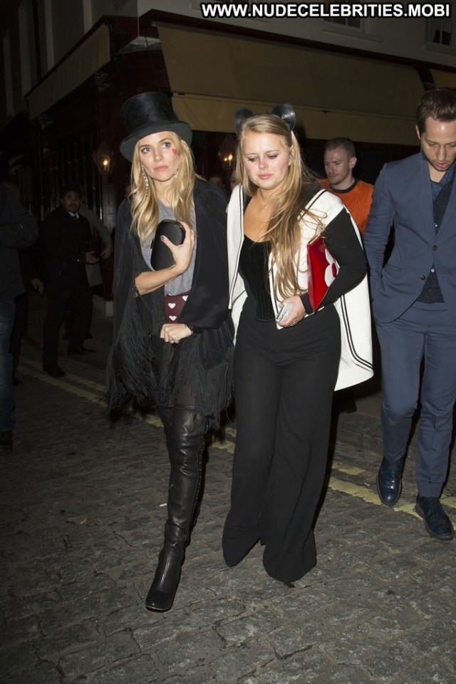 Sienna Miller Private Club Club London Posing Hot Babe High