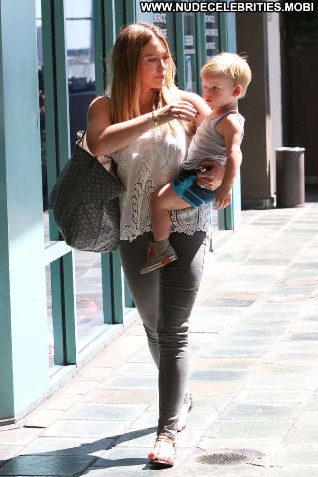 Hilary Duff Studio City Celebrity Babe Beautiful Posing Hot