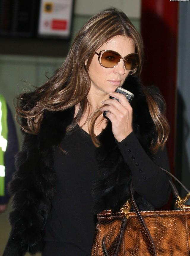 Elizabeth Hurley Lax Airport Babe Beautiful Posing Hot Celebrity Lax