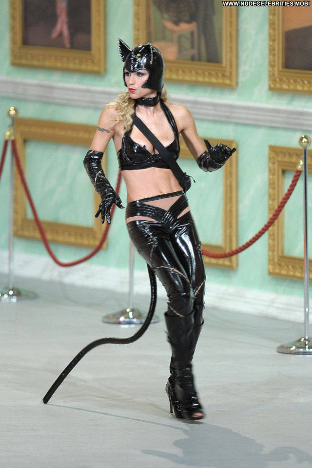 Michelle Hunziker Catwoman  Beautiful Celebrity Posing Hot Babe High