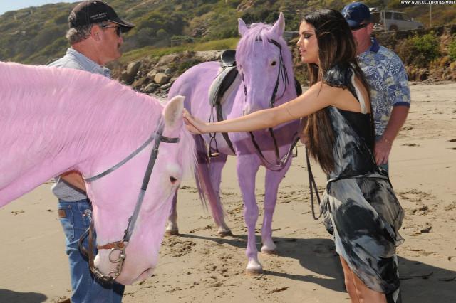 Selena Gomez The Beach Celebrity Malibu Beach Posing Hot Babe