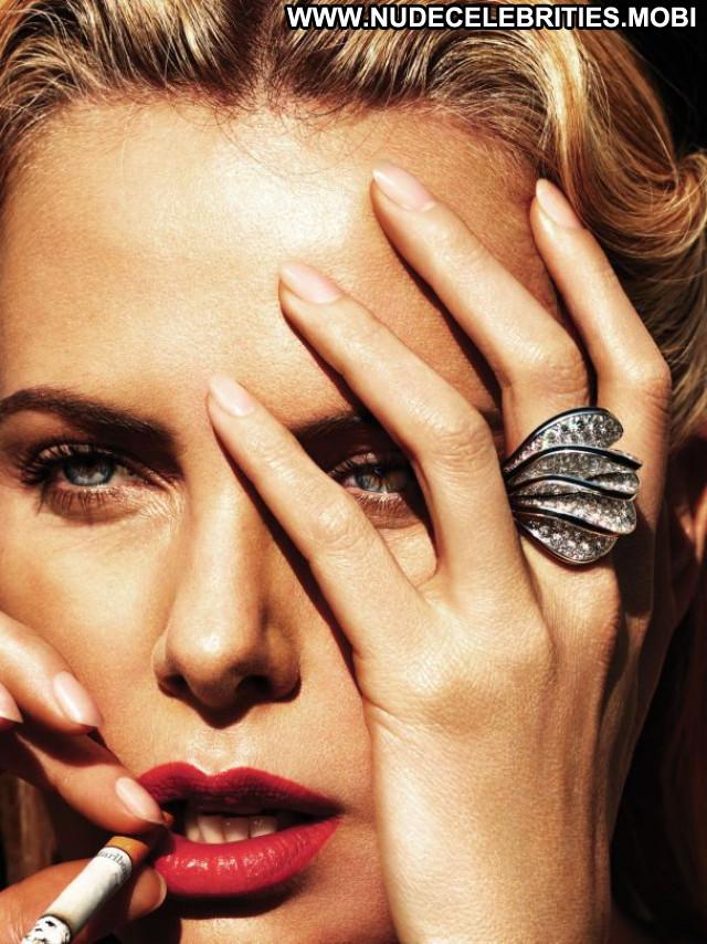 Charlize Theron W Magazine Posing Hot Magazine Beautiful Celebrity