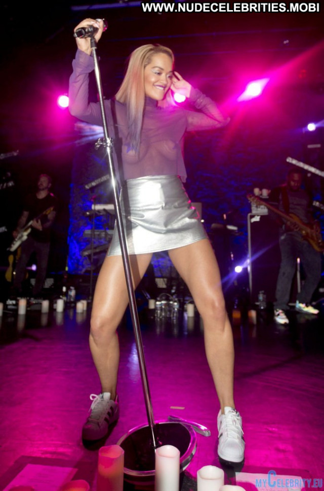 Rita Ora Los Angeles Live See Through Posing Hot Upskirt Babe